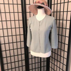 Sigrid Olsen 3/4 sleeve cardigan  -